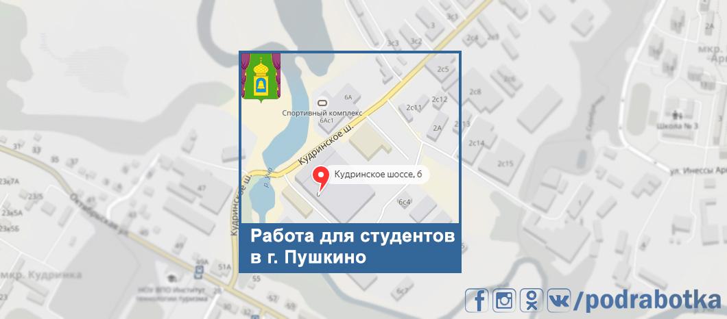 Карта Пушкино